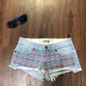 Roxy Jean shorts with design